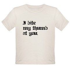 I bite My Thum Organic Toddler T-Shirt