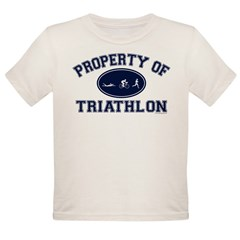 Property of Triathlon Icons Organic Toddler T-Shirt