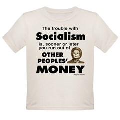 Thatcher Socialism Quote Organic Toddler T-Shirt