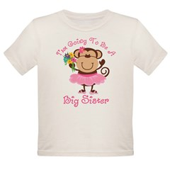 Monkey Future Big Sister Organic Toddler T-Shirt