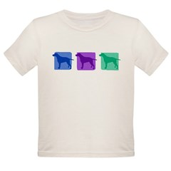 Color Row Curly Coated Organic Toddler T-Shirt