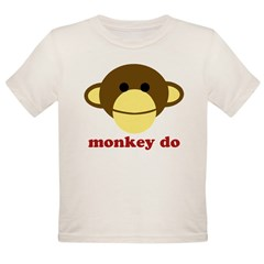 Monkey See, Monkey Do Organic Toddler T-Shirt