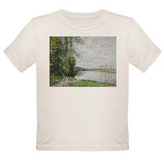 The Riverside Road from Veneux to Thomery by Alfre Organic Toddler T-Shirt