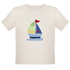 Nautical Sailboat Organic Toddler T-Shirt