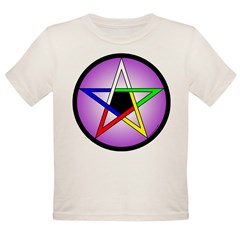 Elemental Pentacle Baby Creeper - 5 Elements Organic Toddler T-Shirt
