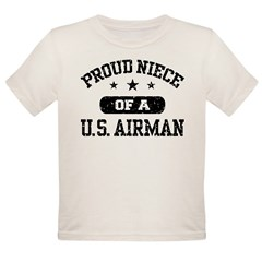 Proud Niece of a US Airman Organic Toddler T-Shirt