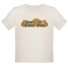 Suns out guns out -- Men Organic Toddler T-Shirt