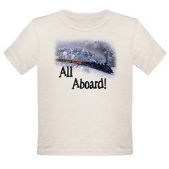 Trains Kids Organic Toddler T-Shirt