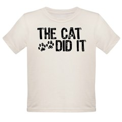 The Cat Did It Infant Creeper Organic Toddler T-Shirt