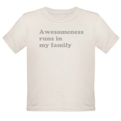 Awesomeness light Organic Toddler T-Shirt