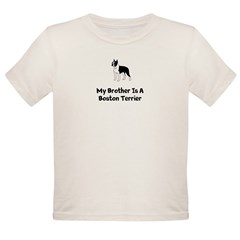 Boston Terrier Infant Body Suit &amp;quot;My Brother&amp;q Organic Toddler T-Shirt