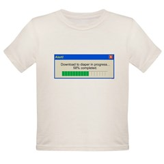 Download to diaper in progress Organic Toddler T-Shirt
