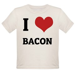 I Love Bacon Infant Creeper Organic Toddler T-Shirt