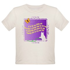 Kids C is for Cat Poetry Infant Creeper Organic Toddler T-Shirt