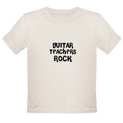 GUITAR TEACHERS ROCK Organic Toddler T-Shirt