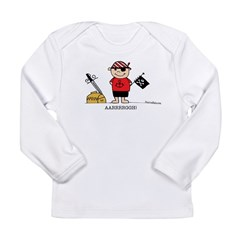 Pirate Boy 1 Long Sleeve Infant T-Shirt