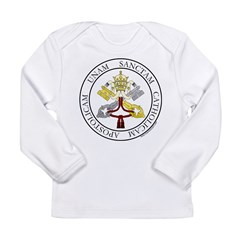 4 Marks of the Church - Latin Infant Creeper Long Sleeve Infant T-Shirt