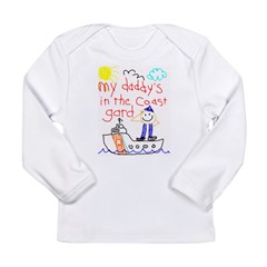 DaddyCoastGuard Long Sleeve Infant T-Shirt