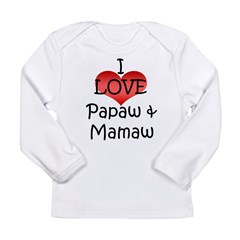I Love Papaw & Mamaw Infant Creeper Long Sleeve Infant T-Shirt