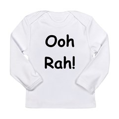 Ooh Rah Black Long Sleeve Infant T-Shirt