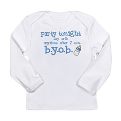 Party at my cri Long Sleeve Infant T-Shirt