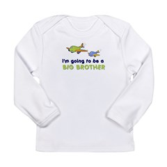 ::: Big Brother Secret Plane ::: Long Sleeve Infant T-Shirt