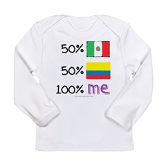 Mexican/Colombian Flag Long Sleeve Infant T-Shirt