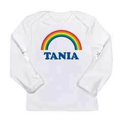 TANIA (rainbow) Long Sleeve Infant T-Shirt