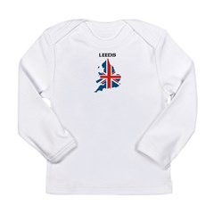 leedsjackmapwht.jpg Long Sleeve Infant T-Shirt
