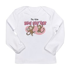 Big Sister (Monkey) Kids Long Sleeve Infant T-Shirt