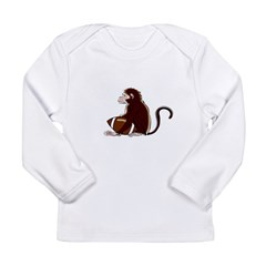 Football Monkey Long Sleeve Infant T-Shirt