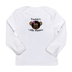 Daddy's GIRL Little Monkey Long Sleeve Infant T-Shirt