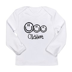 The Oldest (3) Long Sleeve Infant T-Shirt