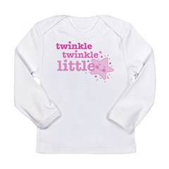 Twinkle Star Pink Long Sleeve Infant T-Shirt