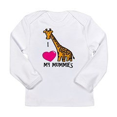 I Love My Mummies Giraffe Long Sleeve Infant T-Shirt