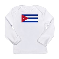 Cuba Flag Long Sleeve Infant T-Shirt