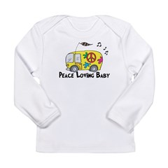 Peace Loving Baby Funny Baby/ Long Sleeve Infant T-Shirt