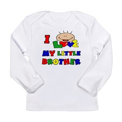 Love My Little Brother BRIGHT Long Sleeve Infant T-Shirt
