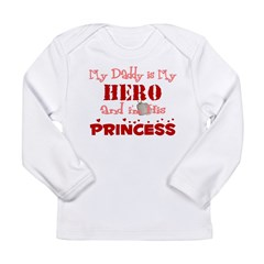 My Daddy is My Hero (red) Long Sleeve Infant T-Shirt