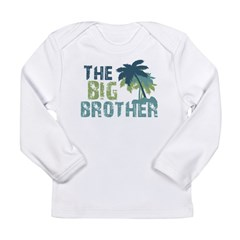 big brother palm tree Long Sleeve Infant T-Shirt