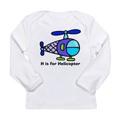 H is for Helicopter! Kids Long Sleeve Infant T-Shirt