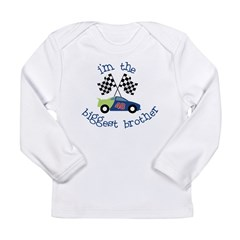 biggest brother race Long Sleeve Infant T-Shirt