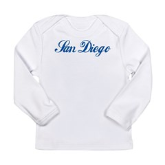 San Diego (cursive) Long Sleeve Infant T-Shirt