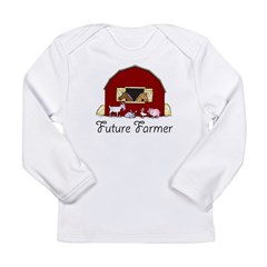 Future Farmer Barnyard Long Sleeve Infant T-Shirt