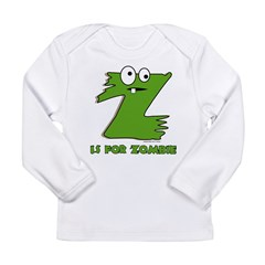 Z is For Zombie Long Sleeve Infant T-Shirt
