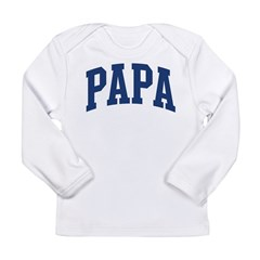 PAPA design (blue) Long Sleeve Infant T-Shirt