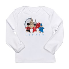 Teddy Holding Hands Long Sleeve Infant T-Shirt