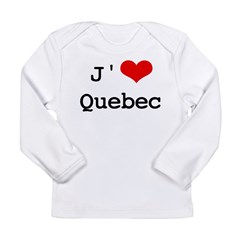 J' [heart] Quebec Long Sleeve Infant T-Shirt