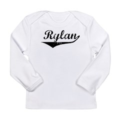 Rylan Vintage (Black) Long Sleeve Infant T-Shirt