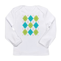 Argyle T-shirt Long Sleeve Infant T-Shirt